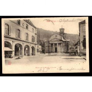 88 - RAON L'ETAPE - Place de la Mairie et Eglise