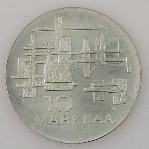 Photo numismatique Monnaies Etrangères Finlande 10 Markaa