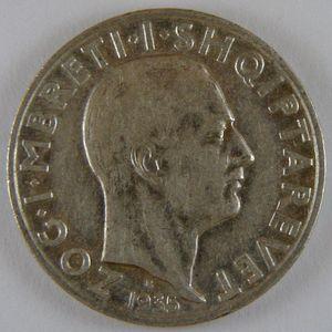 Albania, 2 Franga 1935, TTB/ TTB+, KM 17