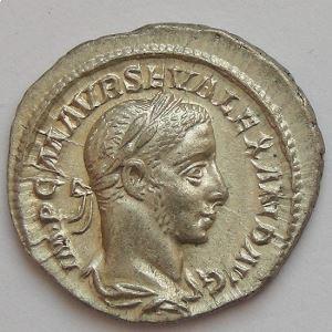 Alexandre Sévère, Alexander Severus, Denier, P M TR P IIII COS P P, TTB/SUP