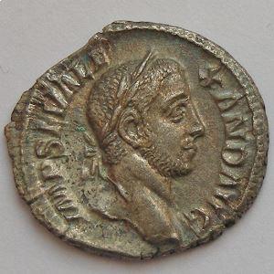 Alexandre Sévère, Alexander Severus, Denier, P M TR P VII COS II P P, TTB