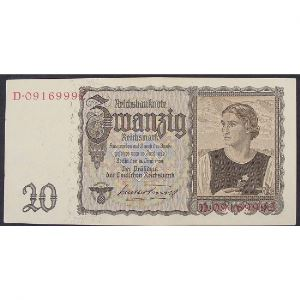 Allemagne, 20 Reichsmark 16.6.1939,  XF