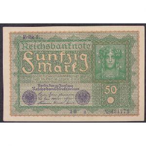 Allemagne, 50 Mark 24.6.1919, XF