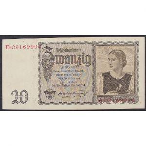 Allemagne , 20 Reichsmark 16.6.1939, XF
