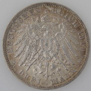 Allemagne , Bayern, 3 Mark 1914 D, SUP, KM#1005