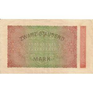 Allemagne, 20.000 Mark 20/2/23, TB+/TTB, Pick: 85b