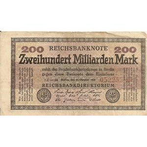 Allemagne, 200 Milliarden Mark 13/10/23, TB, Pick: 121a