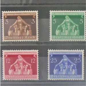 Allemagne, 3ème Reich 1933-1945, N° 573-576, N** Cote 20€