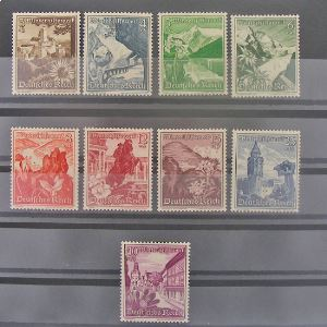 Allemagne, 3ème Reich 1933-1945, N° 616-624, N** Cote 100€