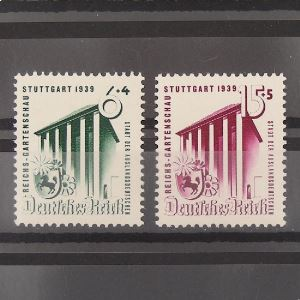 Allemagne, 3ème Reich 1933-1945, N° 632-633, N** Cote 17€