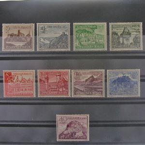Allemagne, 3ème Reich 1933-1945, N° 654-662, N** Cote 60€