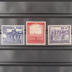 Allemagne, 3ème Reich 1933-1945, N° 727-729, N** Cote  25€