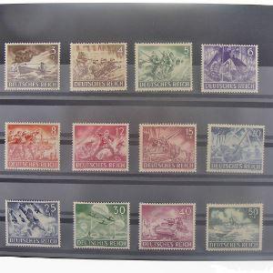 Allemagne, 3ème Reich 1933-1945, N° 748-759 , N** Cote 22.50€