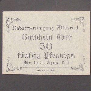 Allemagne, Altusried 50 Pfennige 31.12.1918, UNC
