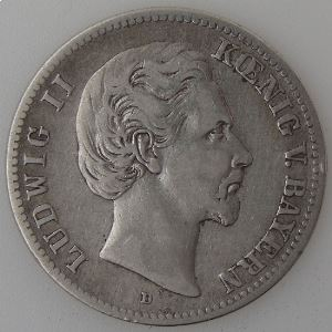 Allemagne, Bayern, 2 Mark 1876 D, TB/TB+, KM#903