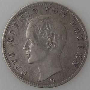 Allemagne, Bayern, 2 Mark 1896 D, TB+, KM#913.