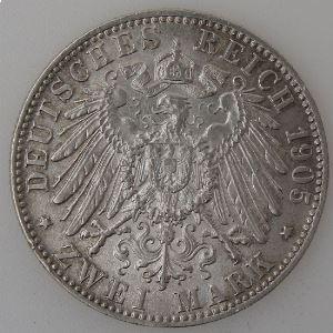Allemagne, Bayern, 2 Mark 1905 D, TTB+, KM#913