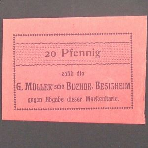 Allemagne,  Besigheim 20 Pfennig, xf