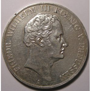 Allemagne, Germany, Preussen, 2 Thaler 1840 A, TTB, AKS# 9