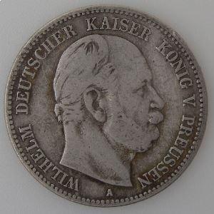 Allemagne , Preussen, 2 Mark 1876 A, TB/TB+, KM#506.