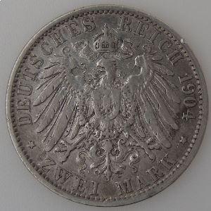 Allemagne, Preussen, 2 Mark 1904 A, TB+, KM#522