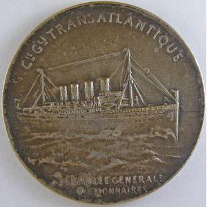 Assemblée Générale des Actionnaires, Bronze argenté 42mm, 27.94 Grs, signé  L.Patriarche,  TTB+/SUP