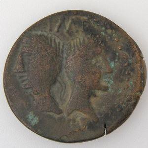Auguste et Agrippa, Dupondius, R/ COL NEM, TB