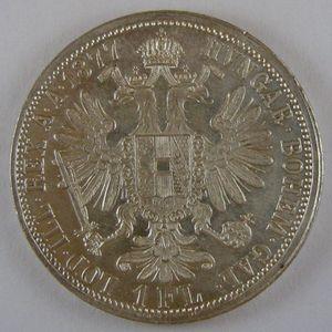 Austria, 1 Florin 1877, KM# 2222,  SUP