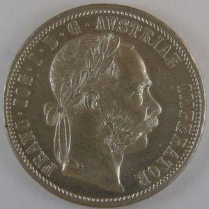 Austria, 1 Florin 1878, KM# 2222,  SUP=
