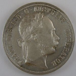 Austria, 1 Florin 1878, KM# 2222, SUP+