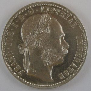 Austria, 1 Florin 1884 , KM# 2222, SUP+