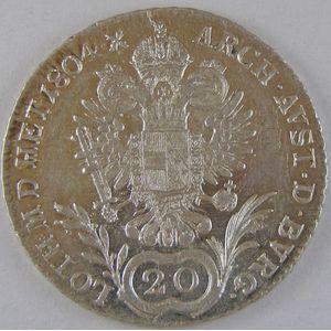 Austria, 20 Kreuzer 1804 E, SUP, KM# 2139