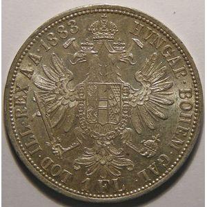 Autriche, Austria, 1 Florin 1883, SUP+/SPL, KM# 2222