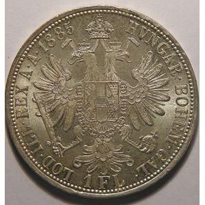 Autriche, Austria, 1 Florin 1885, SUP+/SPL, KM# 2222