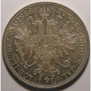 Autriche, Austria, 1 Florin 1886, SUP+/SPL, KM# 2222