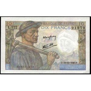 Banque de France, 10 Francs Mineur 19.12.1946, F: 8/16, TTB+/SUP