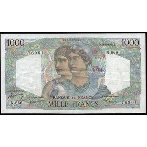 Banque de France, 1000 Francs Minerve et Hercule 29.6.1950, F: 41/33, TTB