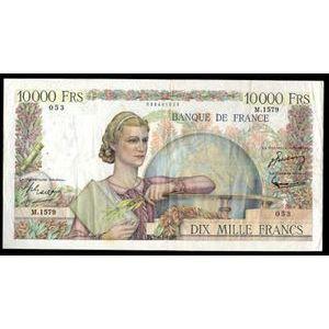 Banque de France, 10000 Francs Génie Français 7.6.1951, F: 50/51, TB