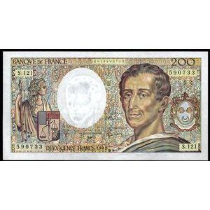 Banque de France, 200 Francs Montesquieu 1992, F: 70/12, TTB