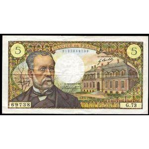 Banque de France, 5 Francs Pasteur 4.4.1968, F: 61/7, TTB