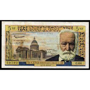 Banque de France, 5 Nouveaux Francs Victor Hugo 2.11.1961, F: 56/9, TB+/TTB