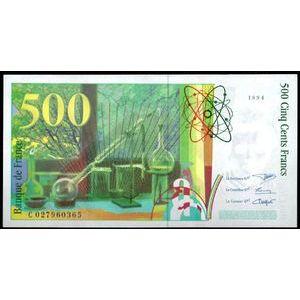 Banque de France, 500 Francs Pierre et Marie Curie 1994, F: 76/1, Neuf