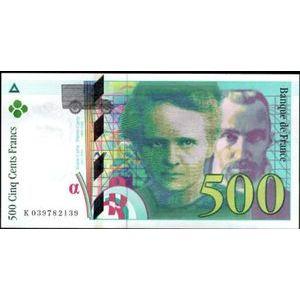 Banque de France, 500 Francs Pierre et Marie Curie 1998, F: 76/4, Neuf