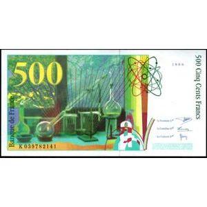 Banque de France, 500 Francs Pierre et Marie Curie 1998 , F: 76/4, Neuf