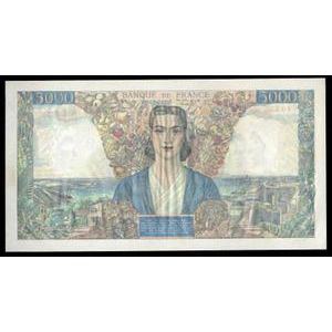 Banque de France, 5000 Francs Empire Français 31.5.1946, F: 47/54, SUP