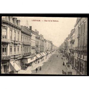 Belgique - LOUVAIN - Rue de la Station