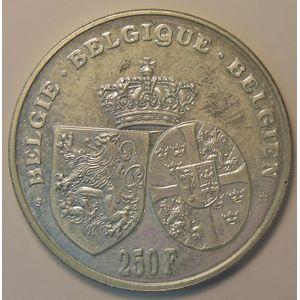 Belgium, 250 Francs 1995 Astrid Regina, KM# 199, SUP+/SPL