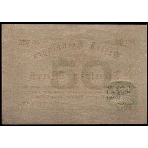 Billet d'Alsace-Moselle, Metz, Bezirk Lothringen, 50 Mark 5.11.1918, SUP