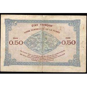 Billet des Mines Domaniales de la Sarre, 50 Centimes 1920 série C, TB+