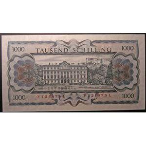 Billets étrangers, Autriche, 1000 Schilling 1966